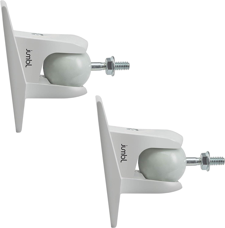 Jumbl SINSB7W ProGrip Ultra Stainless Steel Speaker Wall Mount Bracket, Pair of 2