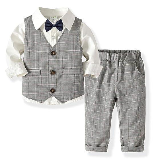 QIANSHION - Juego de 4 Camisetas para bebé, diseño de Pajarita ...