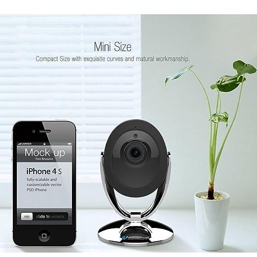 OBO Hands Cámara de Vigilancia de la Cámara IP HD 720P WiFi Mini 1MP Seguridad para el Hogar Monitor de Bebé Portátil Control Remoto del Teléfono Móvil: ...