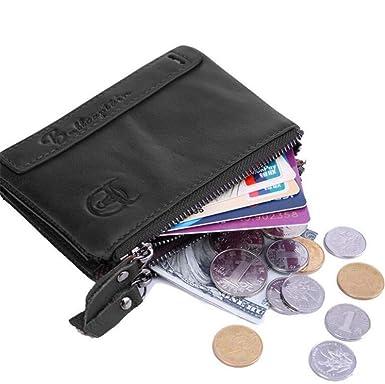 d940abafe83f Youngate Mens Vintage Leather Bifold Wallet With Zipper Card Holder ...