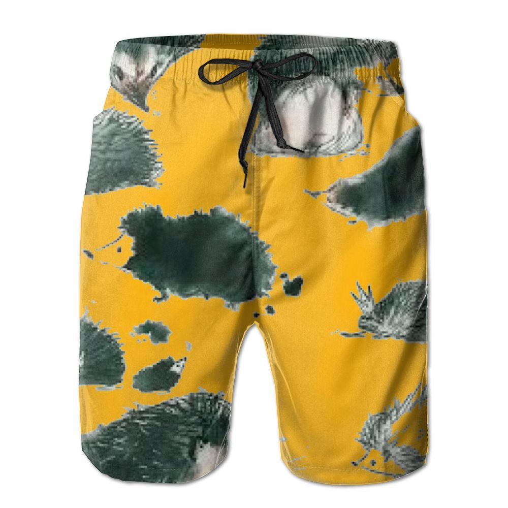YOIGNG Boardshorts Funny Hedge Mens Quick Dry Swim Trunks Beach Shorts