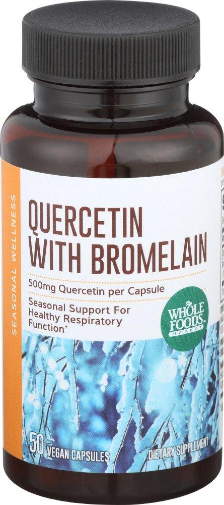 Whole Foods Market, Quercetin w/Bromelain, 50 ct
