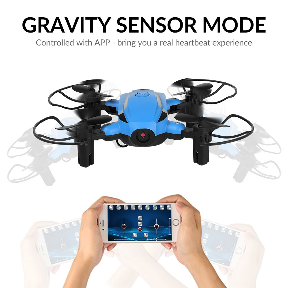 Elektrisches Spielzeug HELIFAR Mini Drohne mit Kamera X1 FPV Drohne Faltbar 2.4GHz 6-Achsen-Gyro RC