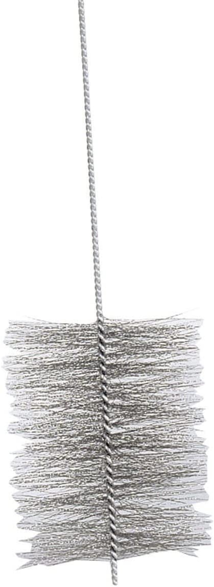 Kamino - Flam – Cepillo deshollinador para limpiar estufas, hornos de leña, chimeneas, tubos de chimeneas (150 cm, Ø 180 mm) - acero - plata