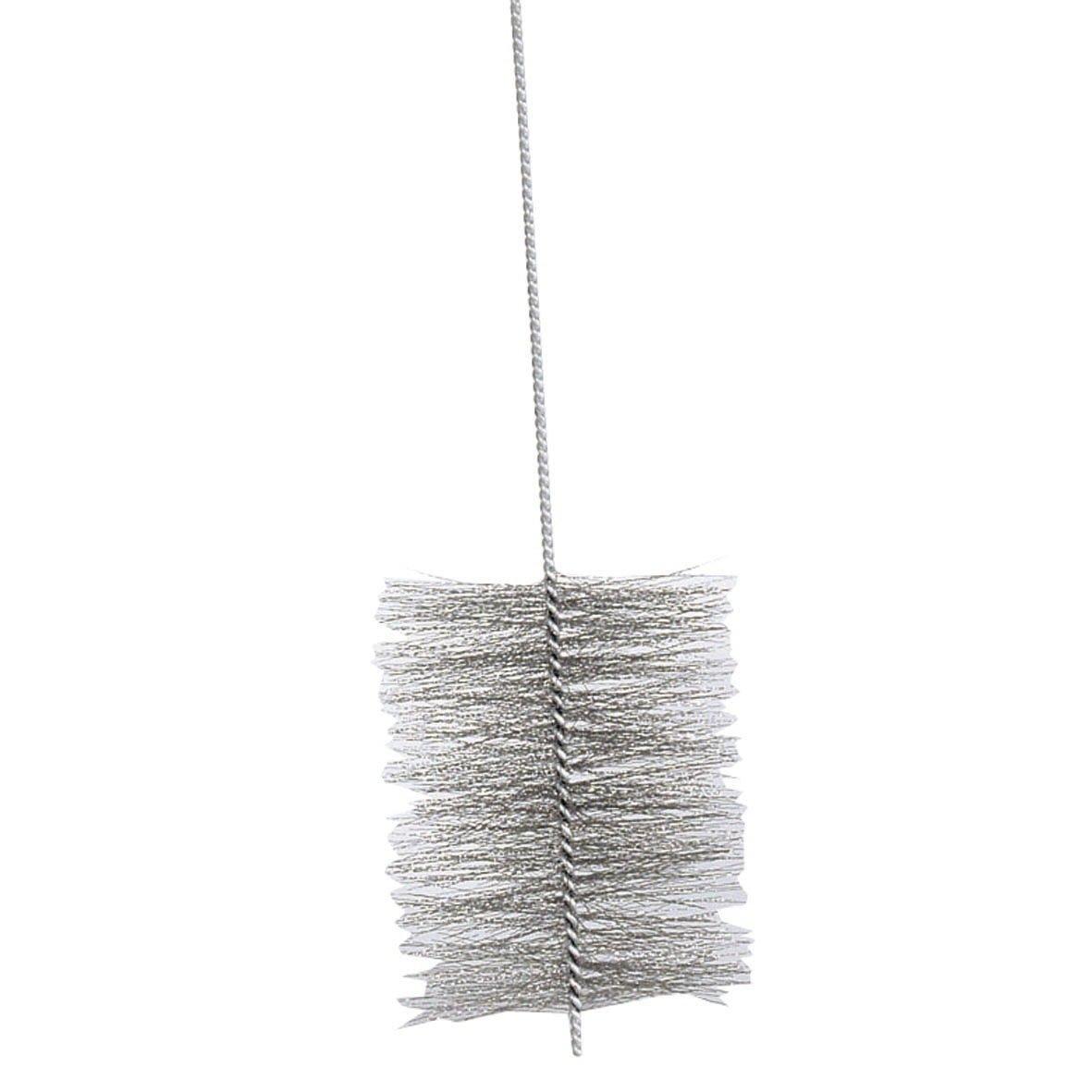Kamino - Flam - Cepillo deshollinador para limpiar estufas, hornos de leña, chimeneas, tubos de chimeneas (150 cm, Ø 180 mm) - acero - plata: Amazon.es: ...