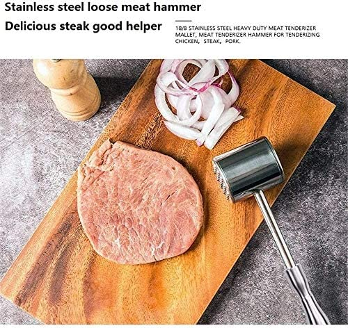 Fleischklopfer Hammer Fleischklopfer Hammer für Steak, Huhn, Fisch, Schweinefleisch, gute Griffigkeit, doppelseitig