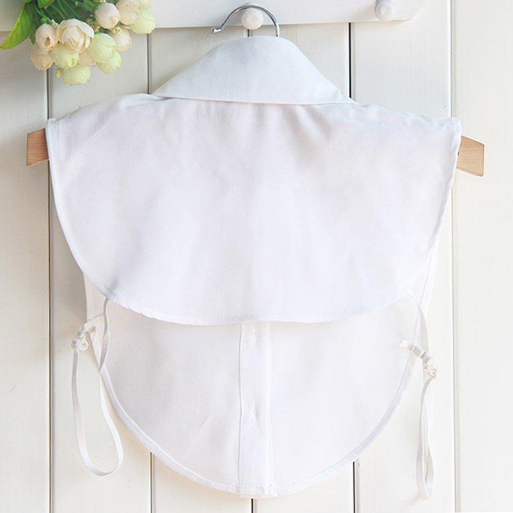 BeToper Mujeres Cuello Desmontable Mitad Camiseta Blusa en algodón Color Blanco, Negro: Amazon.es: Deportes y aire libre