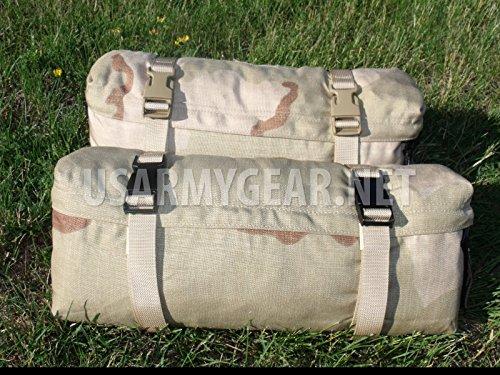 New US Army Military Genuine Issue GI Surplus Molle II Waist Butt Hip Fanny Training Field Pack Bag Desert 3C Camo (Black buckle) ()