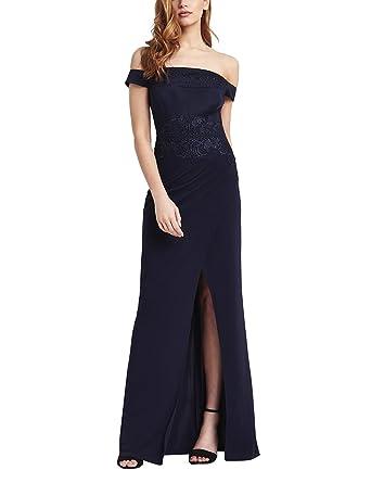 Lipsy Womens Applique Detail Bardot Maxi Dress