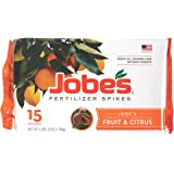 Jobe's Fruit & Citrus Fertilizer Spikes 9-12-12 Time Release Fertilizer for All Fruit Trees, 15 Spikes per Package