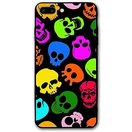 Amazoncom Wialfig Colorful Skull Wallpaper Iphone 8 Plus