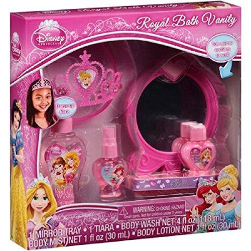 Disney Princess Royal Bath Vanity Gift Set, 5 pc (Disney White Perfume)