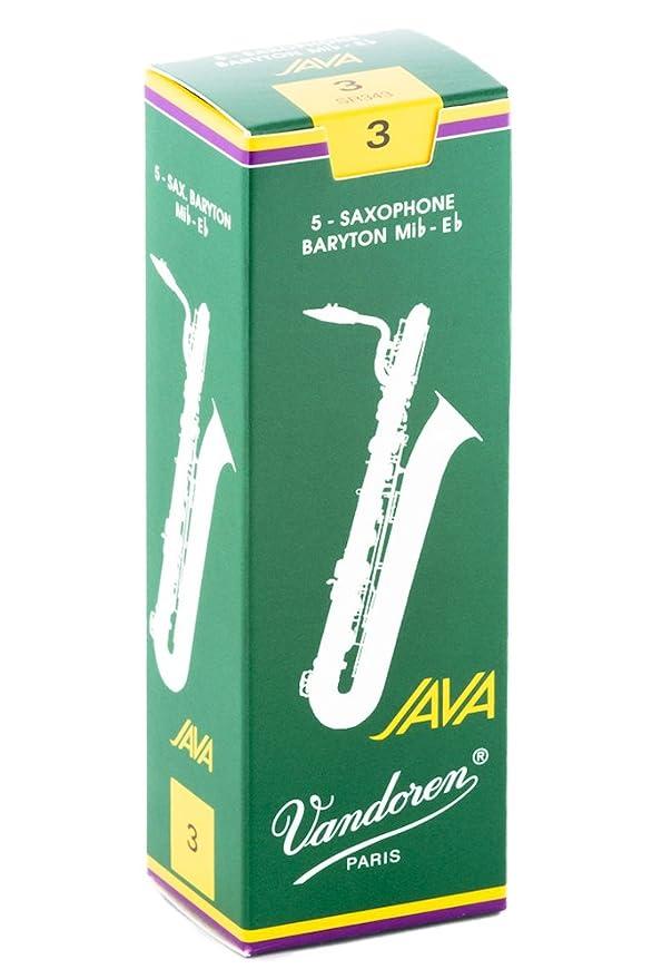 Vandoren SR3435 Bari Sax JAVA Reeds Strength 3.5; Box of 5