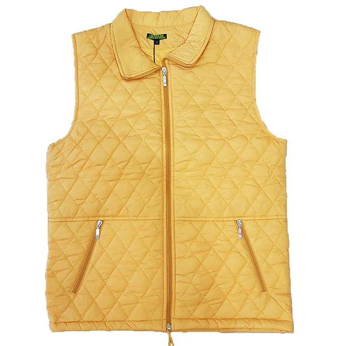41fee43b49c Ladies Gilet Sleeveless Bodywarmer Vest Quilted Jacket Padded Warm S - 3XL  (Gold, XXX-Large): Amazon.co.uk: Clothing