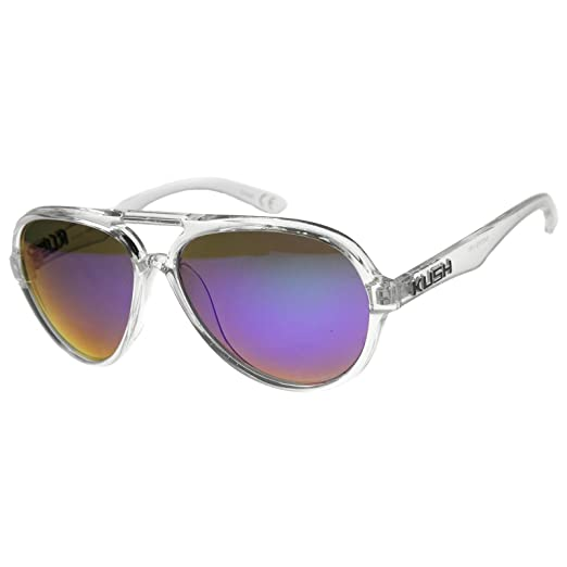 e44c4c815b5 Mens Aviator Sunglasses With UV400 Protected Mirrored Lens (Clear -Black Midnight)