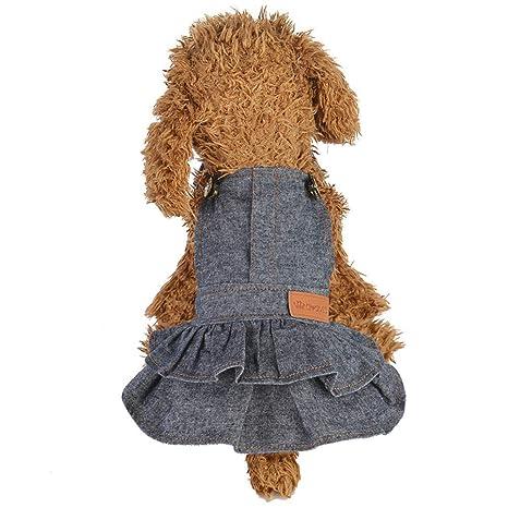 BBsmile Perro Mascota Falda Vaquera Vestido de Cachorro de Perro ...