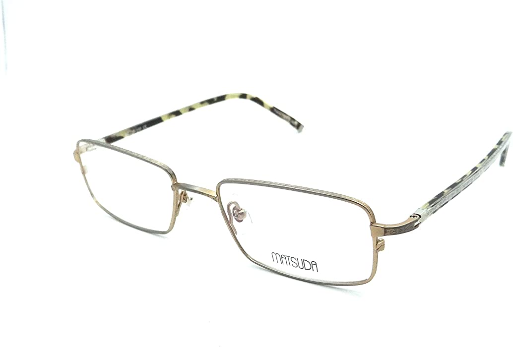 f506749c45a Matsuda M3008B ATG Eyeglasses Frames 54-19-142 Antique Gold Titanium Acetate