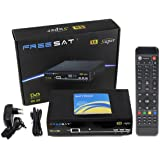 Freesat V8 Super Satellite TV Receiver Receptor de TV por Satellite Digital Satellite Box Decoder IPTV HD Full 1080P DVB-S2 Top Box PowerVu BissKey Newcam Youtube Hot Sale EU Enchufe para españa