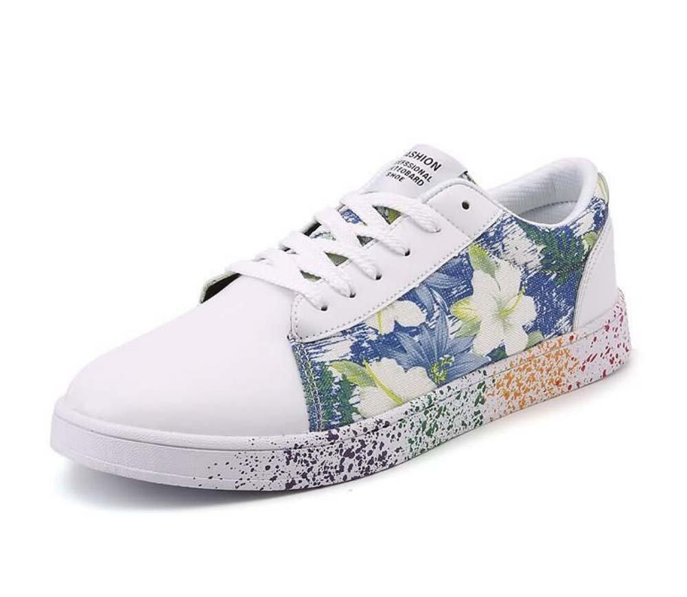 Unisex Bomba Placa Zapatos Pareja Casual Zapatos Colormatch Encajes hasta Impresión Slip En Snekers UE Tamaño 36-47,Blue,40EU 40EU|Blue