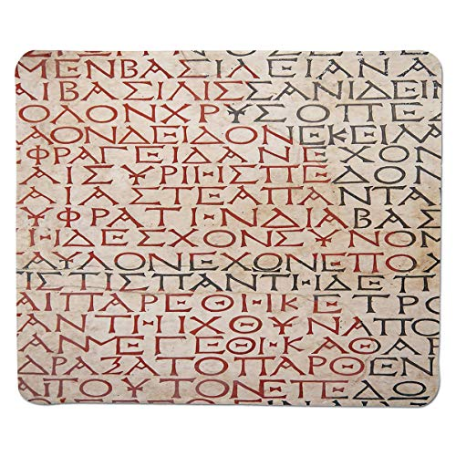 - SCOCICI Gaming Locking Mouse Pad,Antique Latin Culture Alphabet Writing Carved on The Tombstone Print Decorative Customized Rectangle Non-Slip Rubber Mousepad Gaming Mouse Pad 11.8