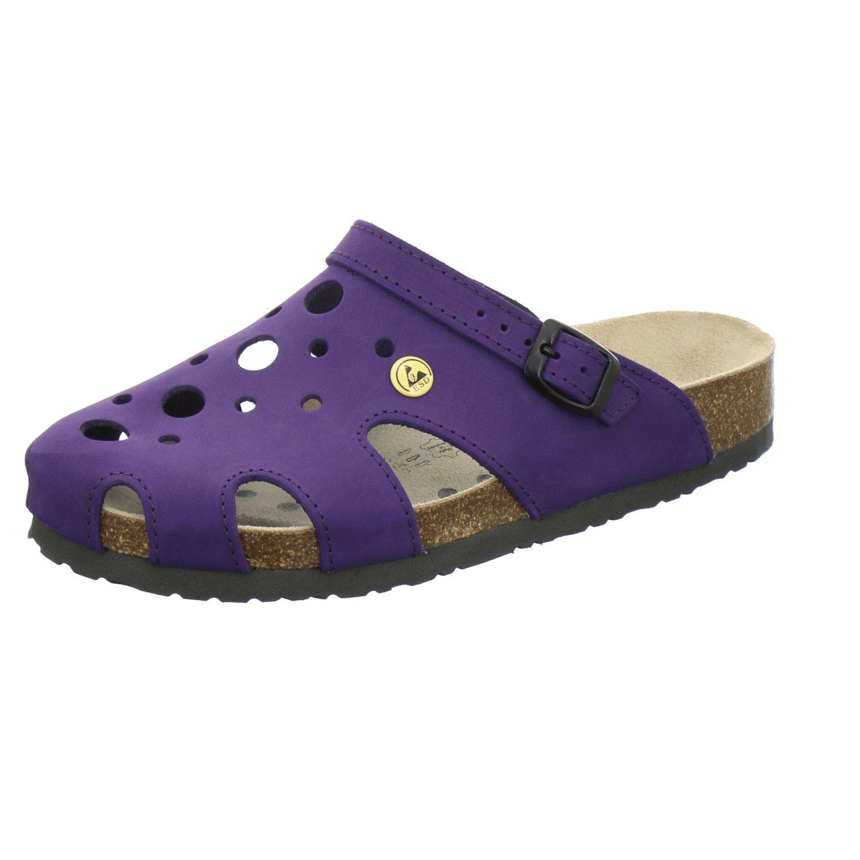 AFS-Schuhe 2199332 - Zuecos de Piel para mujer 36 EU|Morado - Viola