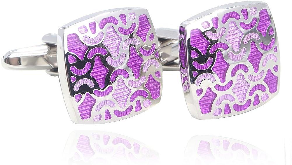 Digabi Greek Mythology Style Rose Red Glazing Cufflinks with Gift Box