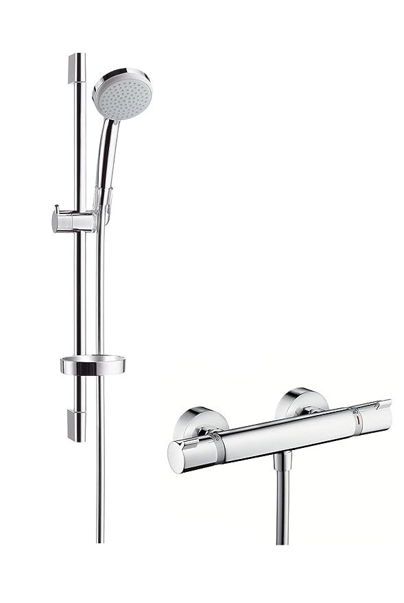 Hansgrohe 27034000 Croma 100 Vario set de ducha con termostato, 0,65m, 2 tipos de chorro, cromo: Amazon.es: Bricolaje y herramientas
