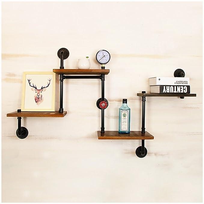 und herbewegendes Regal-h/ängende Wand Hardware Steampunk-Dekor f/ür kundenspezifisches Regal-Rohr-Regal-Dachboden-M/öbel Industrielle Eisen-Wasserrohr-Regal-Klammer-an der Wand befestigtes sich hin