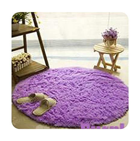 Amazon.com: Soft Round Alfombras Carpet Yoga Mat Slip ...