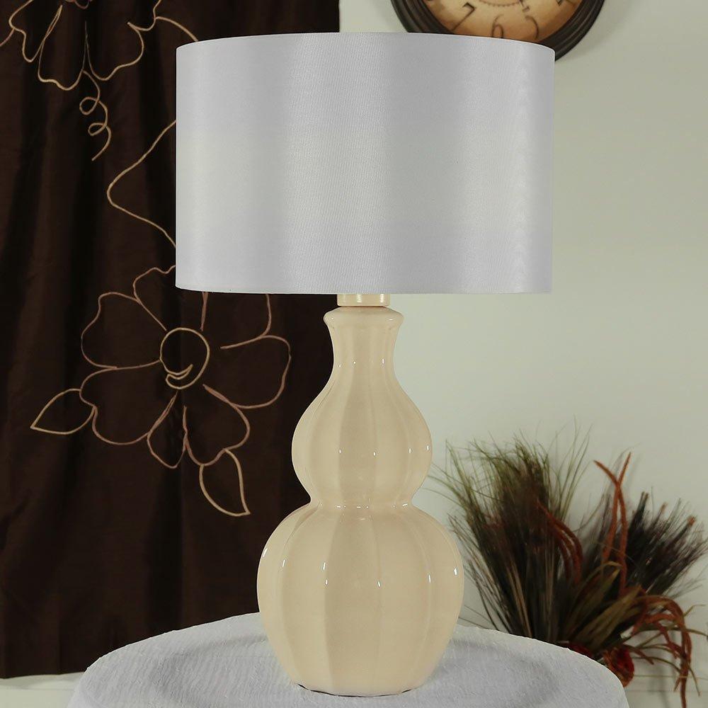 Sunnydaze 26 Inch Curved Ceramic Indoor Accent Table Lamp