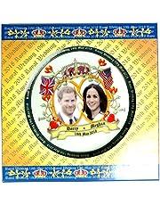 Plates Decorativos de Porcelana para Boda Royal H R H Prince Henry of Gales (Harry) y Meghan Markle, Porcelana, Medium 15 cm