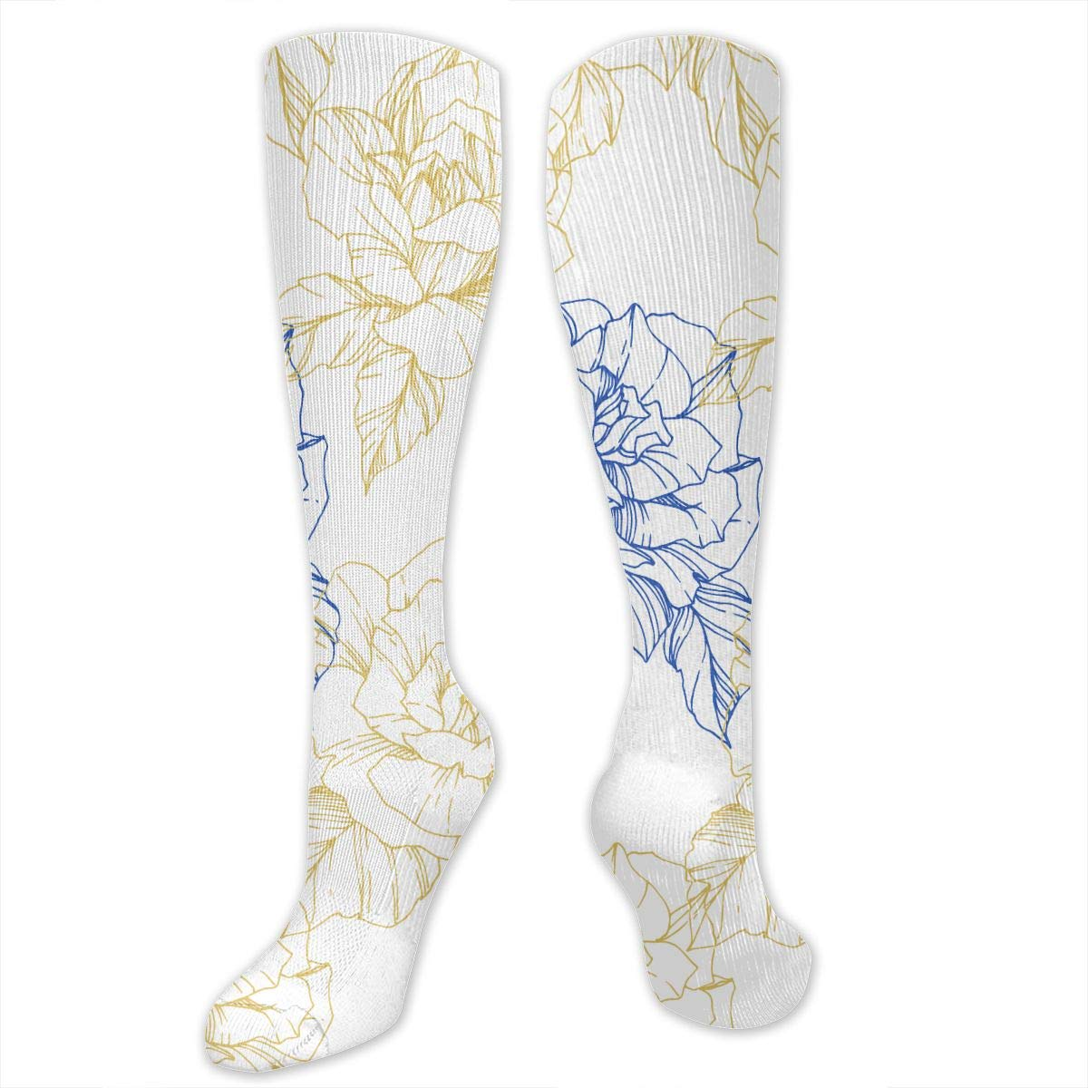 Hockey Rugby Socks White Beautiful Vector Rose2 Personal Soccer Socks For Soccer Volleyball Softball Lacrosse Baseball