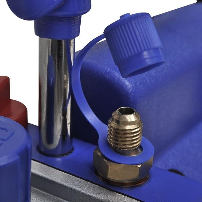 vidaXL Bomba de vacío de una etapa aire acondicionado refrigeración, 50 litros / min: Amazon.es: Coche y moto