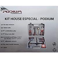 Kit Ferramentas - Kit House Especial - Podium com 10 Peças - Alicates - Chaves de Fenda - Chave Philips - Chave Teste…