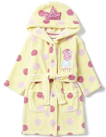 Peppa Pig Robe de chambre en polaire douce pour fille Tailles 2-3 3 ...