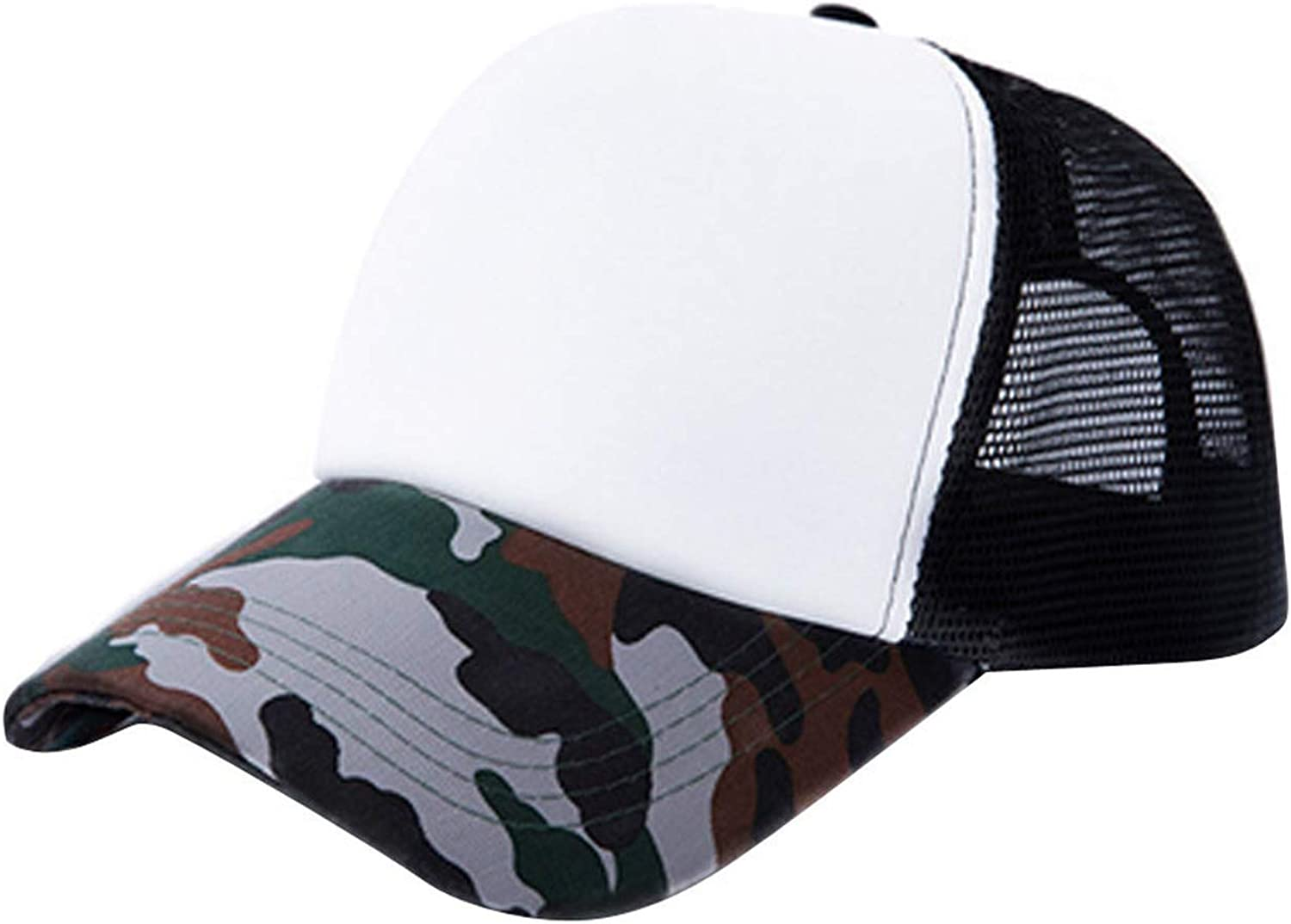Moktasp 2019 Fashion Unisex Camouflage Mesh Baseball Cap Hat Blank Visor Hat Adjustable