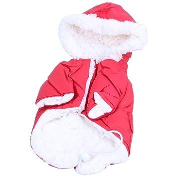 TOOGOO (R) Ropa de invierno para perros pequeños abrigos cálidos para mascotas abrigo perro ropa bulldog francés chihuahua mascota ropa roja S: Amazon.es: ...