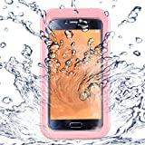 Underwater Housing for, Grade IP68 Durable Protective Case Swimming Underwater Photo Video Camera Waterproof Case Cover for i (Pink)