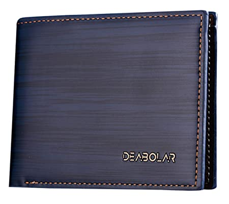 Black Mens Gents Wallet Business Cards Notes Purse Luxury Soft Faux Leather UK