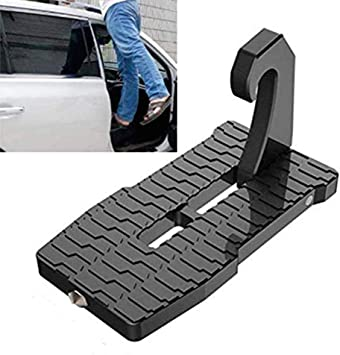 Joestar - Escalera plegable para puerta de coche, con gancho en el cierre Slam para Jeep Car SUV. (Negro): Amazon.es: Bricolaje y herramientas