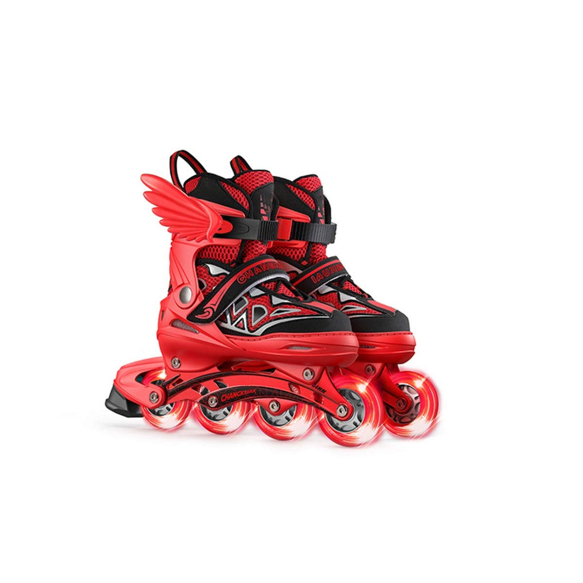 Hengxiang Fitness Inline Skates, Kid's Outdoor Skates, Four Wheels Adjustable Size, Pearl Liner Cotton, High Load Bearing Aluminum Bracket, PP Fiber Material Shoe Shell, Excellent Gift For 3 Years Old