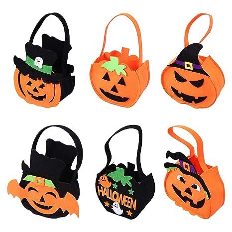 Bolsa de Dulces de Calabaza de Halloween 6 Piezas, Bolsa de ...