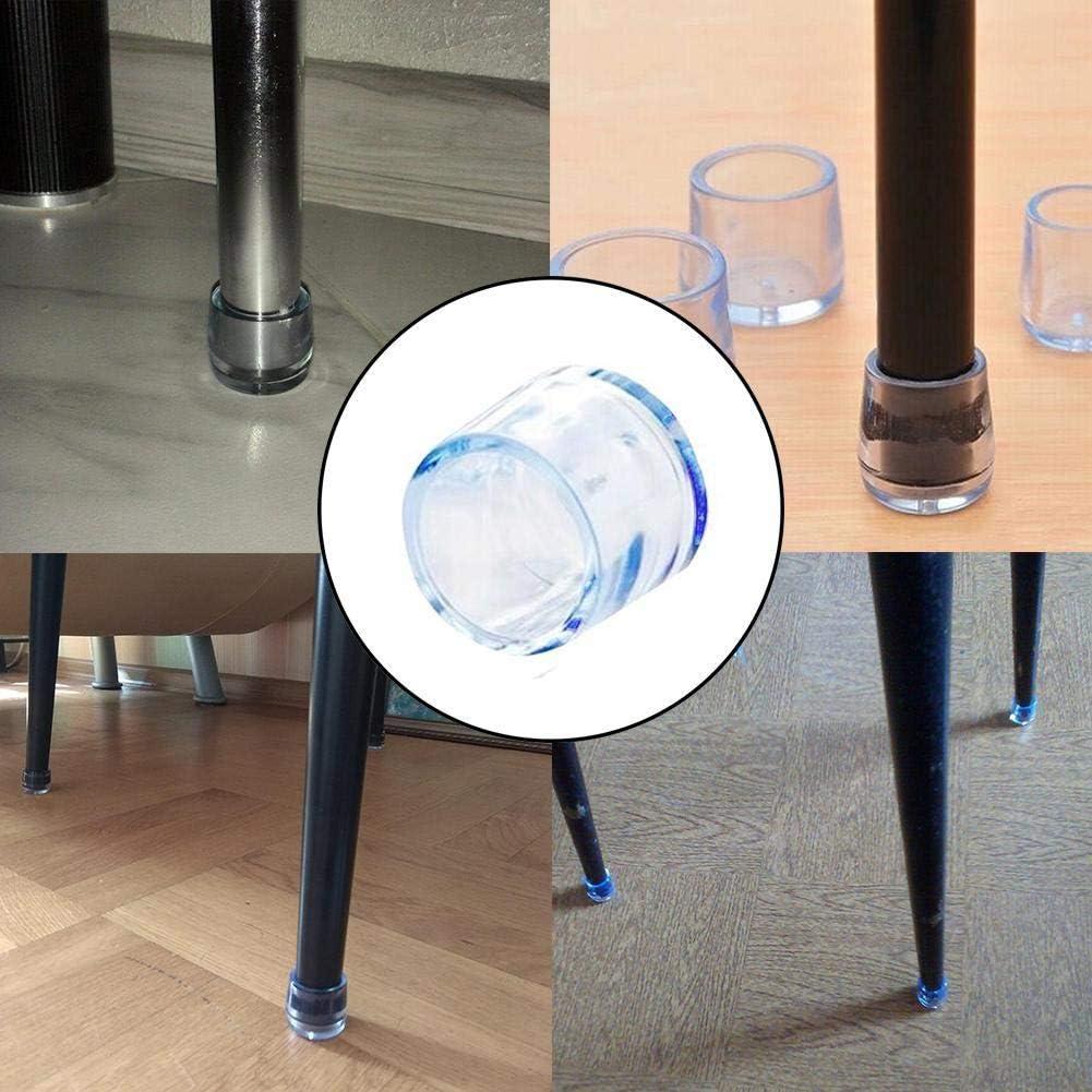 /épais Lot de 8 embouts antid/érapants r/ésistants /à lusure en silicone pour pieds de table et de chaise