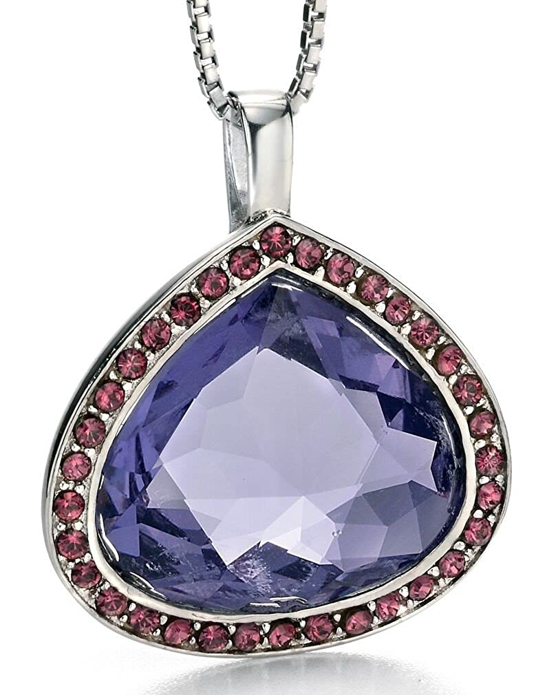 51 My-jewellery 925 Silver Swarovski crystal and rhodium fashionable necklace 20