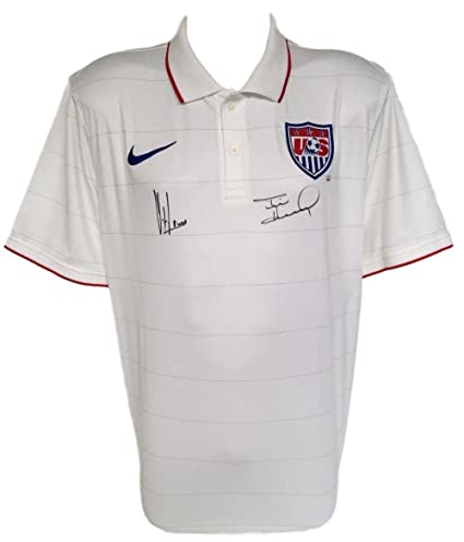 289c3b32c Tim Howard Clint Dempsey Signed Authentic USA Soccer Jersey Large +Steiner  - JSA Certified - Autographed Soccer Jerseys at Amazon s Sports  Collectibles ...