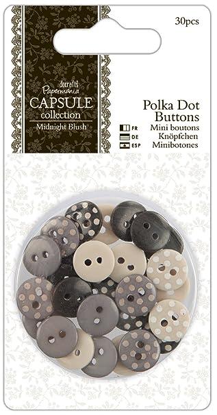 papermania polka dots kn pfe 30 st ck midnight blush