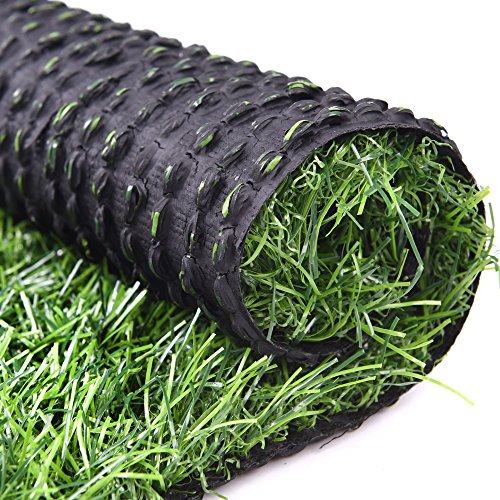 RoundLove Artificial Turf Lawn Fake Grass Indoor Outdoor Landscape Pet Dog Area (24X20 in) by RoundLove