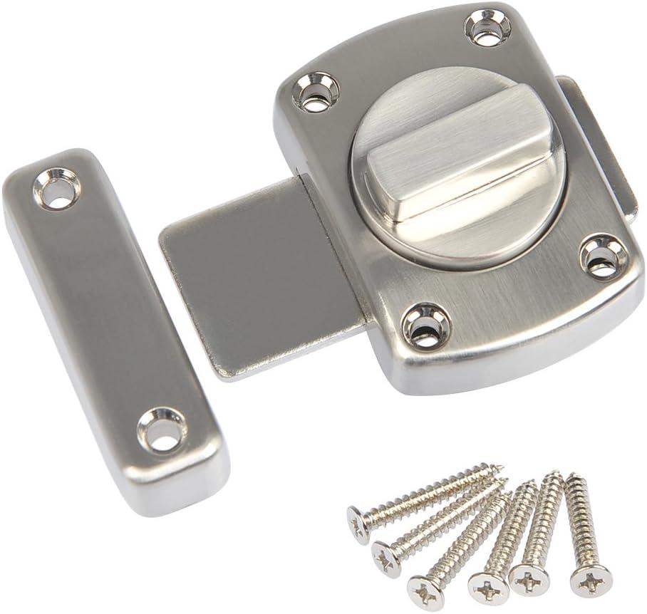 FOCCTS Cerradura para puerta con 6 tornillos Tornillo de seguridad de plata Acabado de acero inoxidable pulido para puerta de gabinete de ventana
