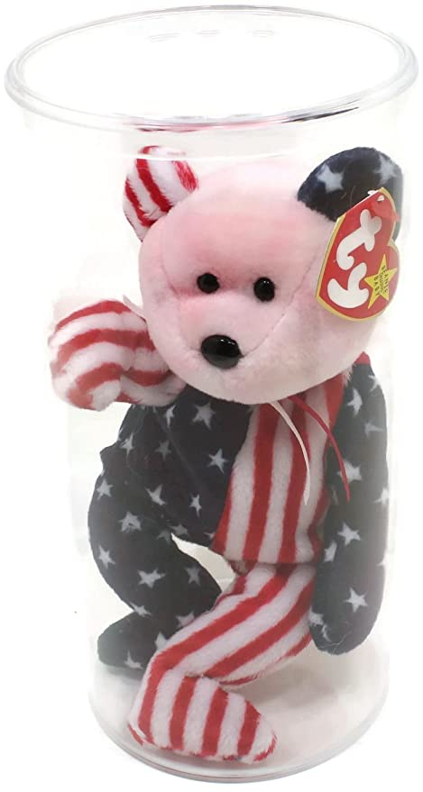 Amazon.com  TY Beanie Baby - SPANGLE the Bear (Pink Head Version)  Toys    Games 5f995c6539