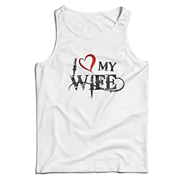 lepni.me Camisetas de Tirantes para Hombre Amo a mi Esposa ...